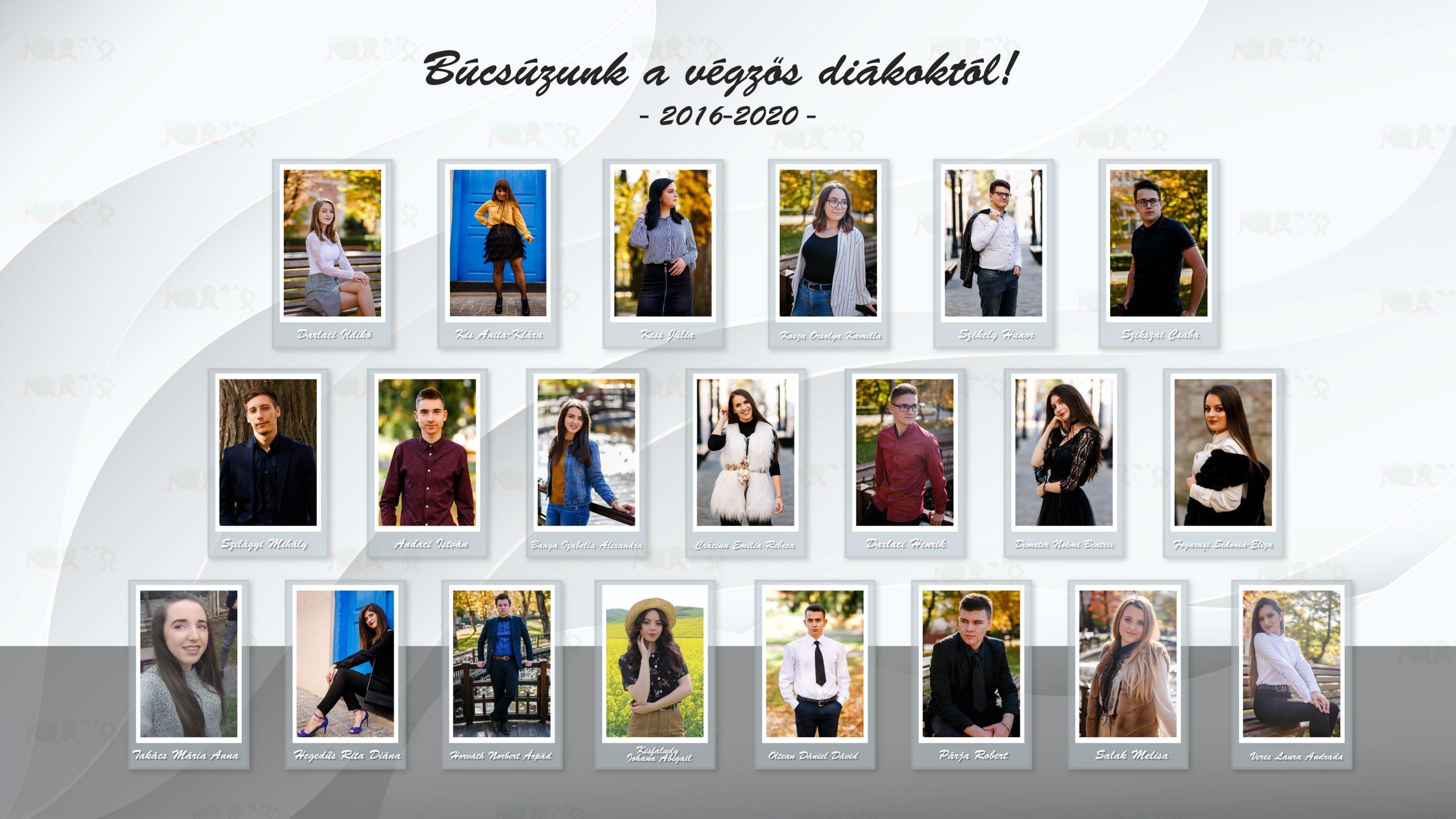 Búcsúzunk a végzős diákoktól! 2016-2020